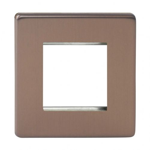 Varilight XDYG2S.BZ Screwless Brushed Bronze DataGrid Plate (2 DataGrid Spaces)